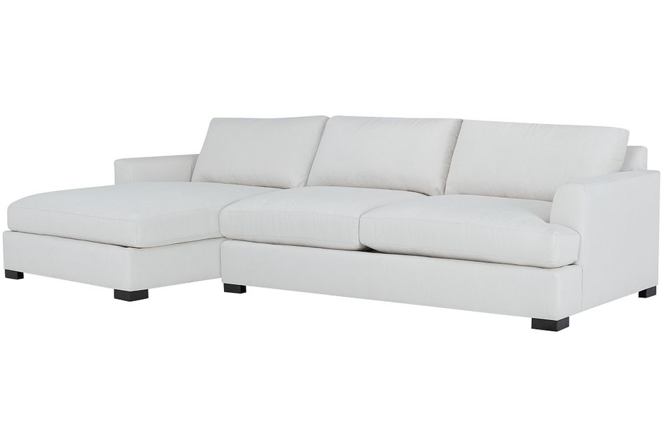 Adriana Light Taupe Fabric Left Chaise Sectional