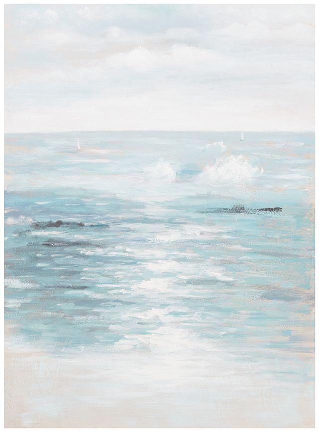 Seashore Light Blue Canvas Wall Art (0)