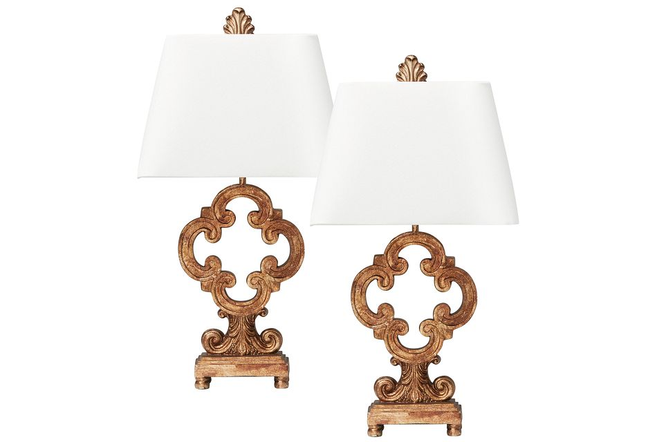 Tori Gold Set Of 2 Table Lamp