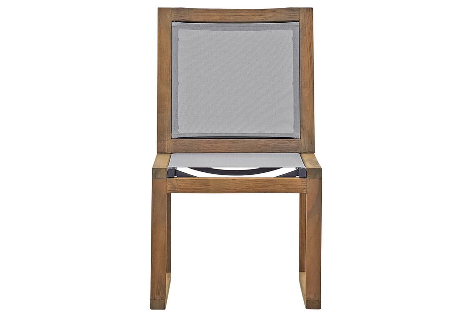 Linear Teak Sling Chair