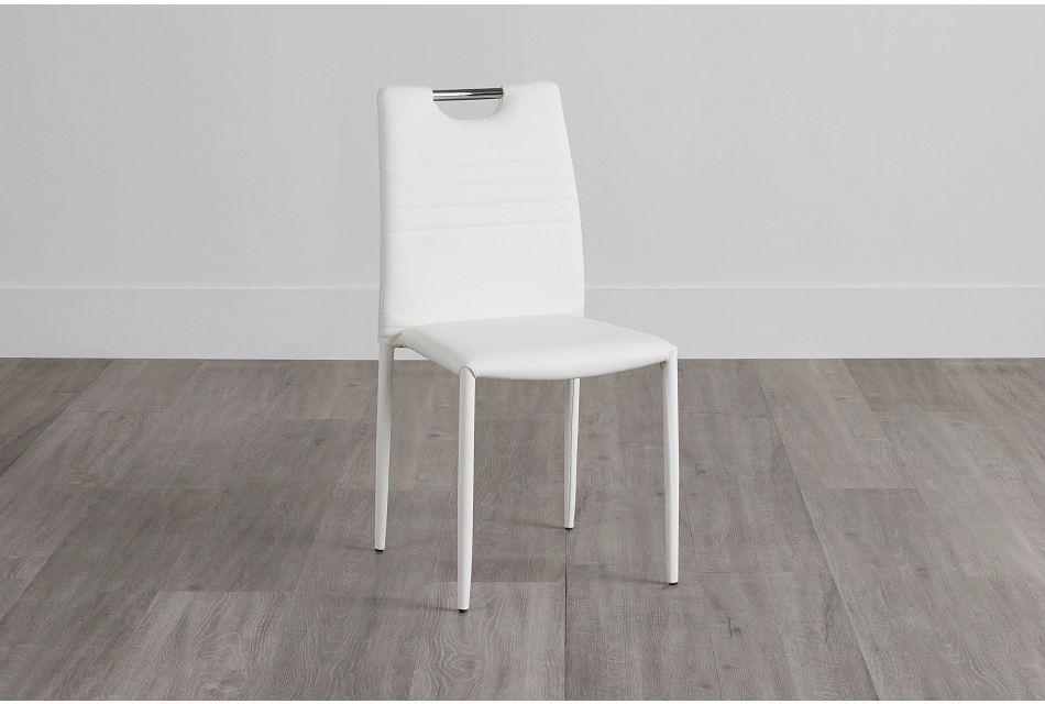 Skyline White Upholstered Side Chair,  (0)