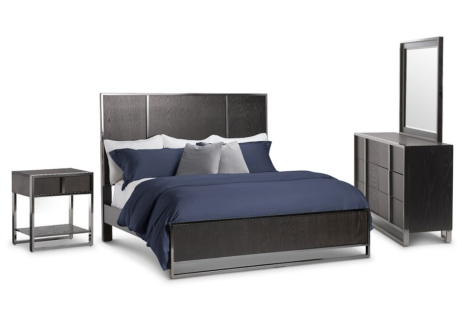 Tribeca Dark Tone Panel Bedroom