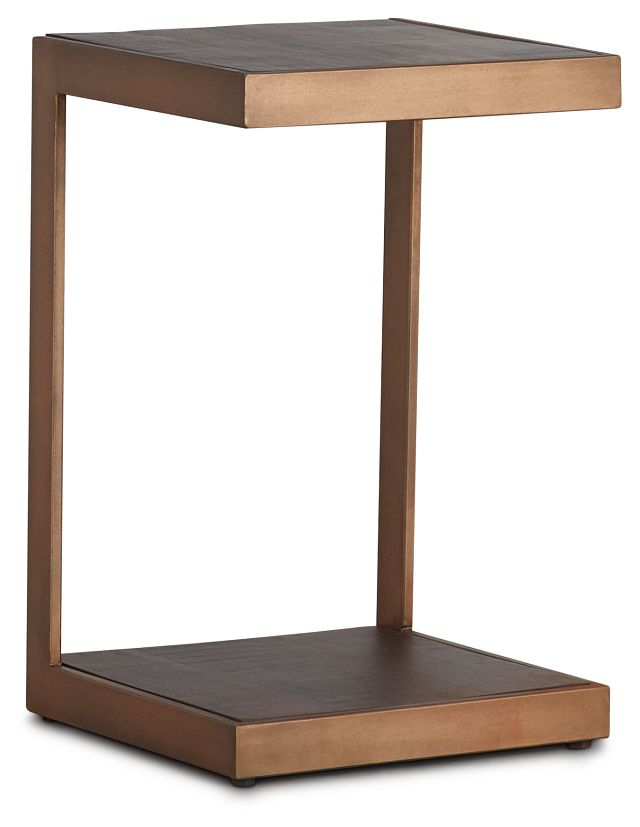Amber Bronze Wood Chairside Table (1)