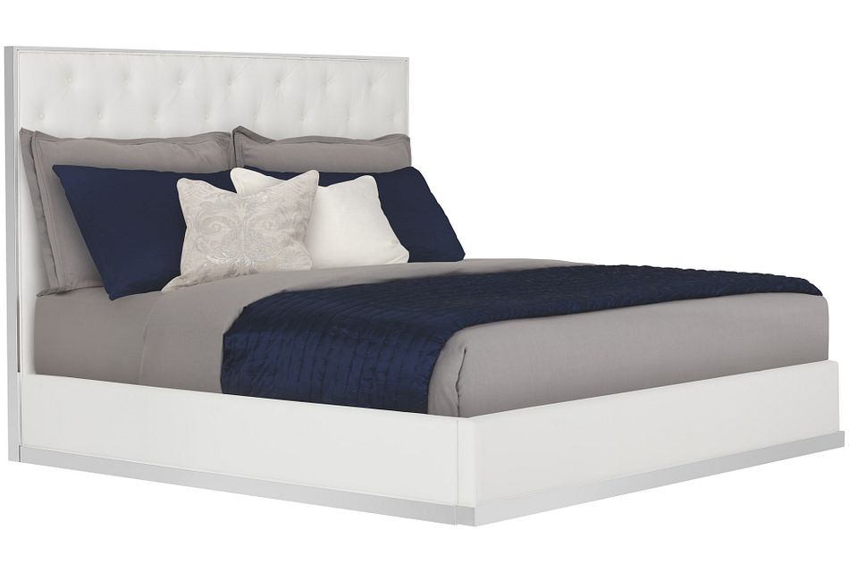Neo White Platform Bed