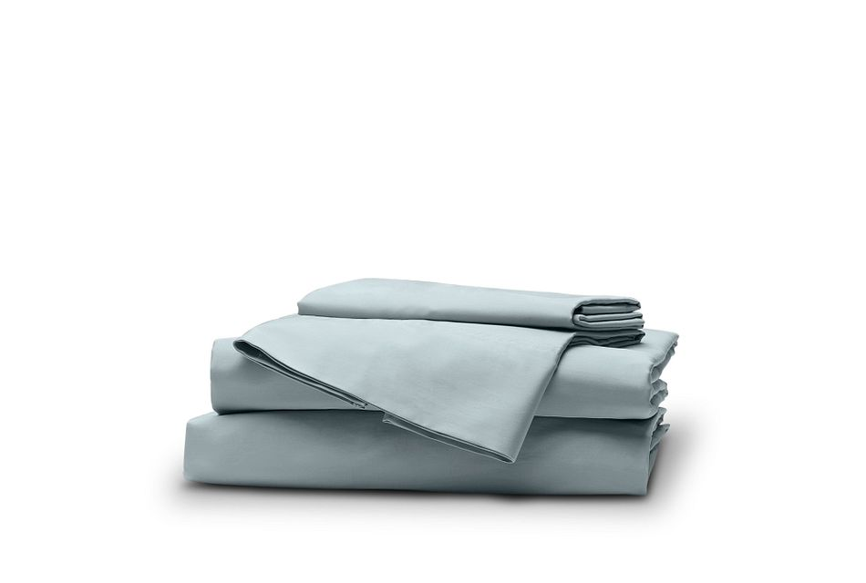 Cotton Sateen Light Blue 300 Thread Sheet Set