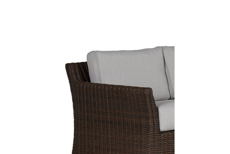 Southport Gray Woven Large Two-arm Sectional