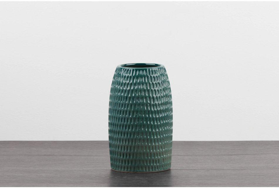 Huxley9 Green  Vase,  (0)