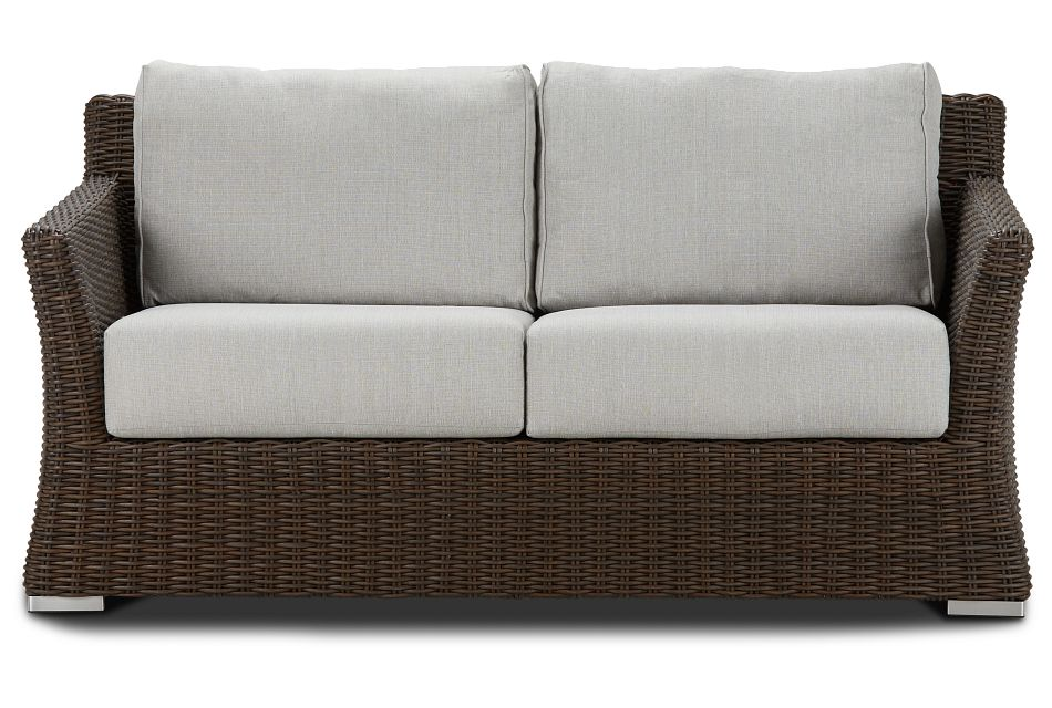 Southport Gray Woven Loveseat
