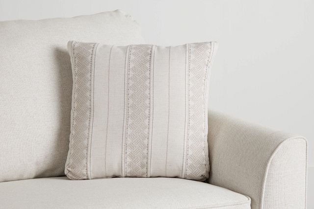 """Hermione Beige Fabric 18"""" Accent Pillow (0)"""