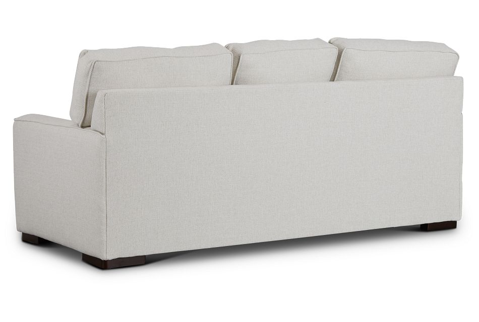 Austin White Fabric Memory Foam Sleeper