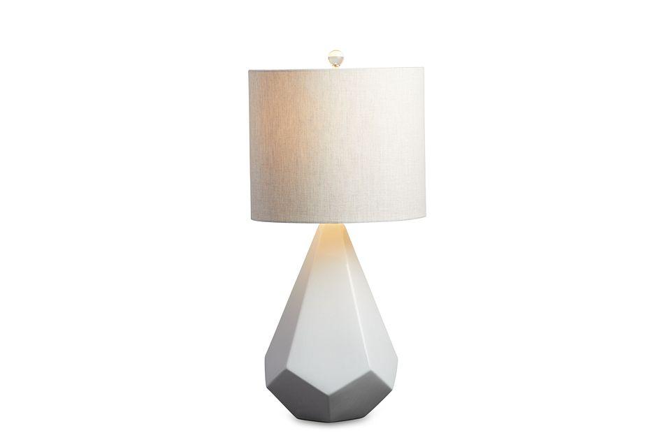 Delaney White Table Lamp