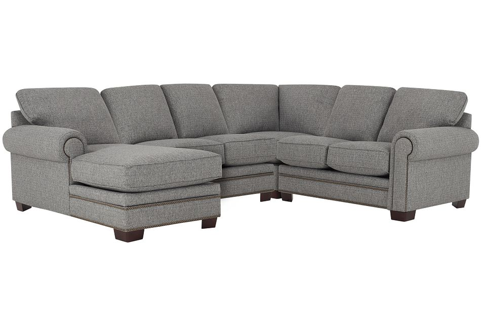 Foster Gray Fabric Medium Left Chaise Sectional