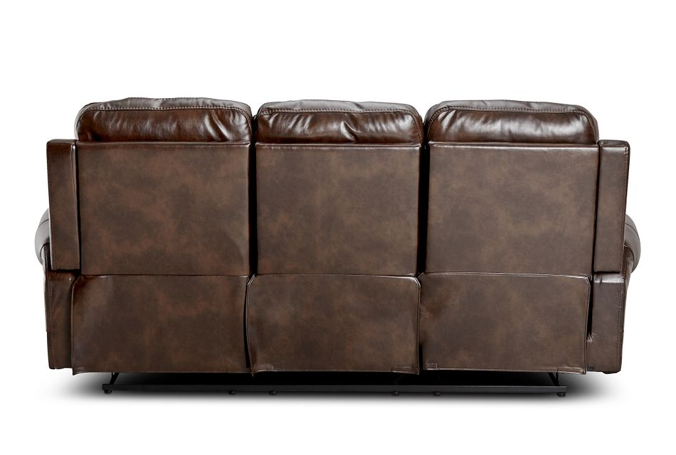 Hunter Dark Brown Micro Power Reclining Sofa