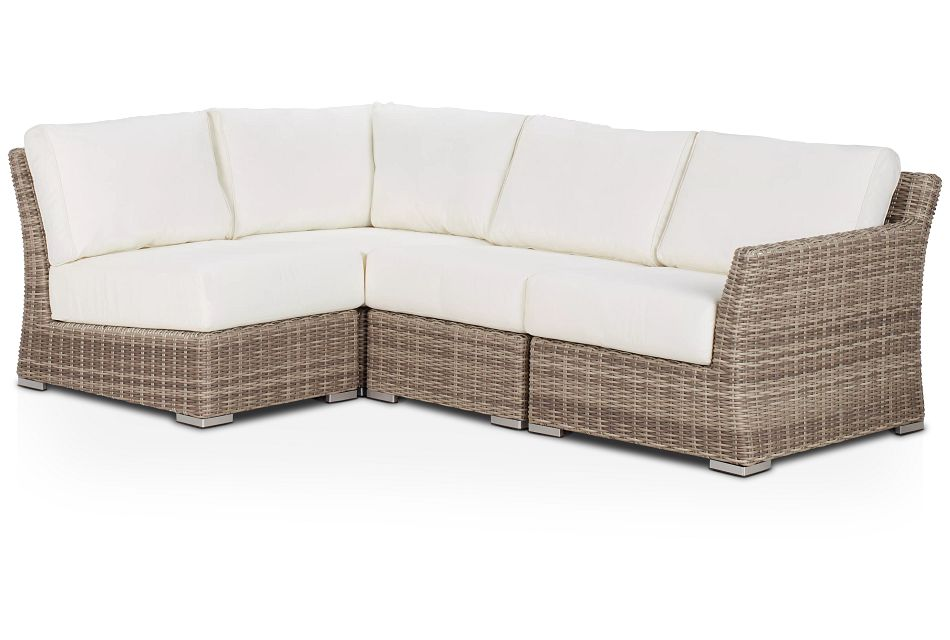 Raleigh White Right 4-piece Modular Sectional