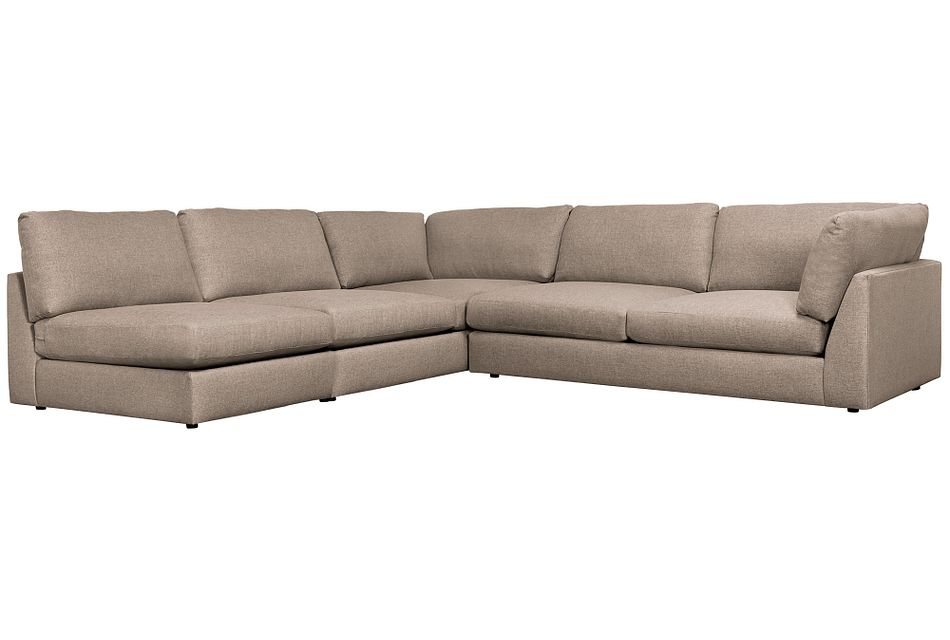 Harper Dark Taupe Fabric Large Right Arm Sectional