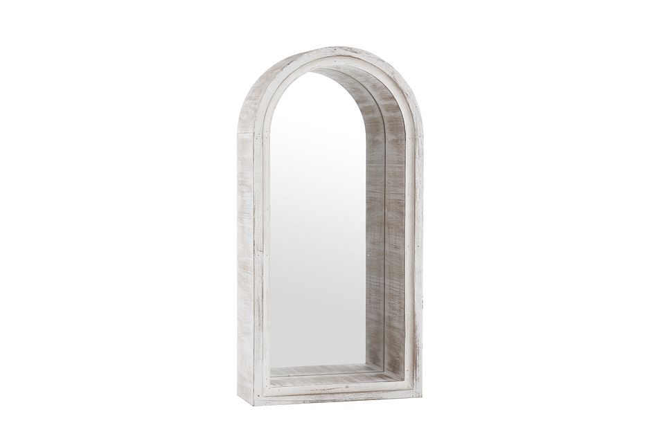 Timber Whitewash Mirror