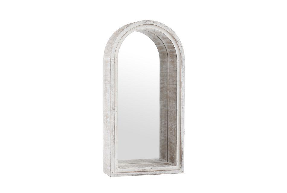 Timber Whitewash Mirror