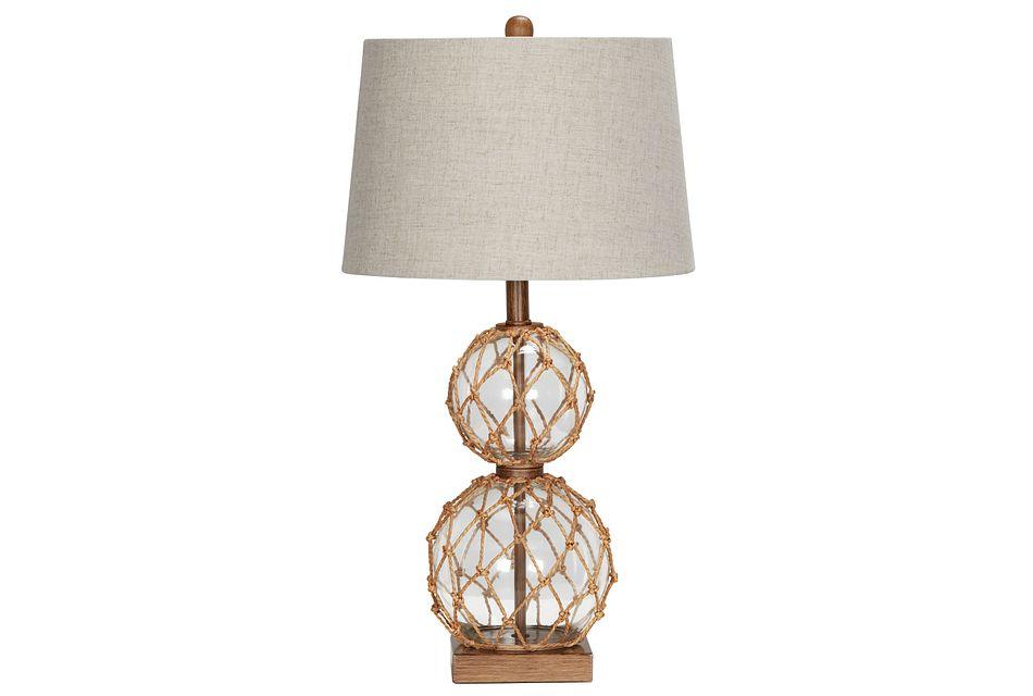 Coastal Glass Table Lamp