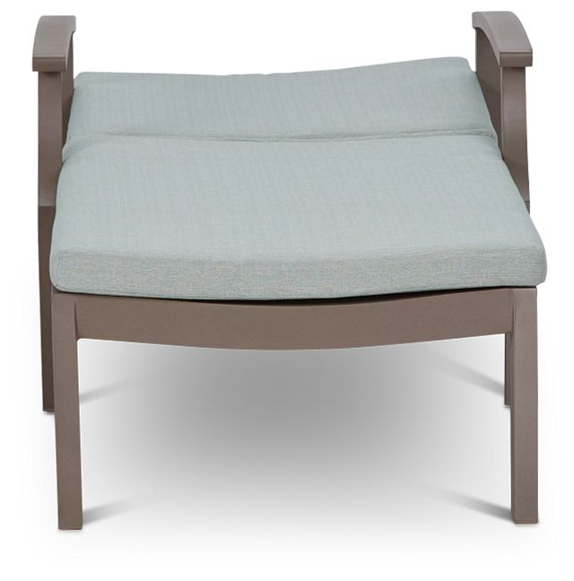 Raleigh Teal Aluminum Cushioned Chaise (0)