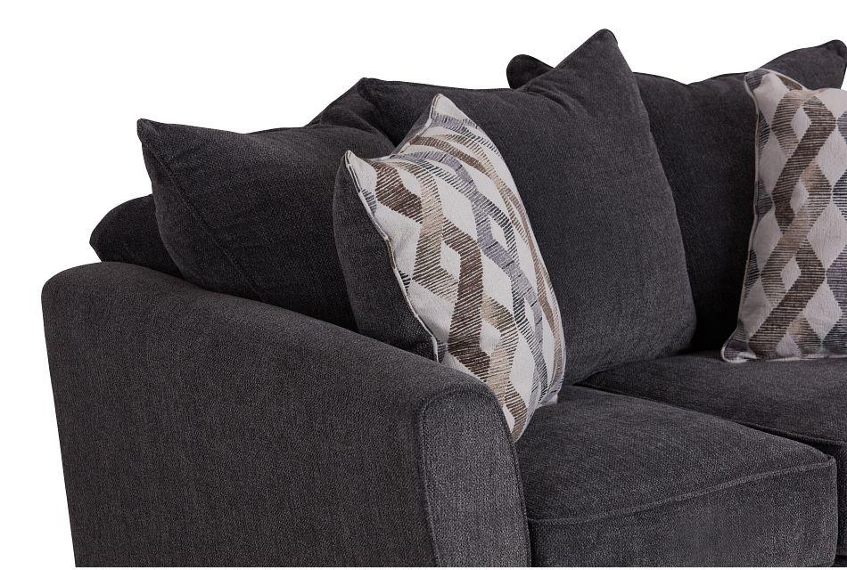 Myra Dark Gray Fabric Loveseat
