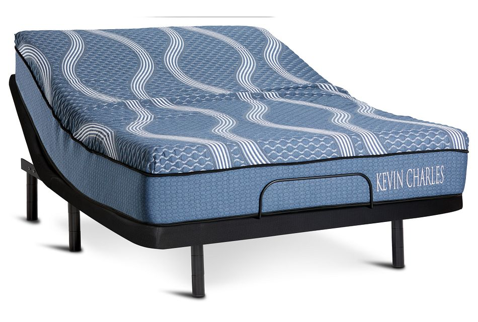 Kevin Charles Miramar Hybrid Silver Adjustable Mattress Set