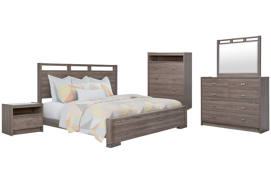 Sutton Light Tone Panel Bedroom Package