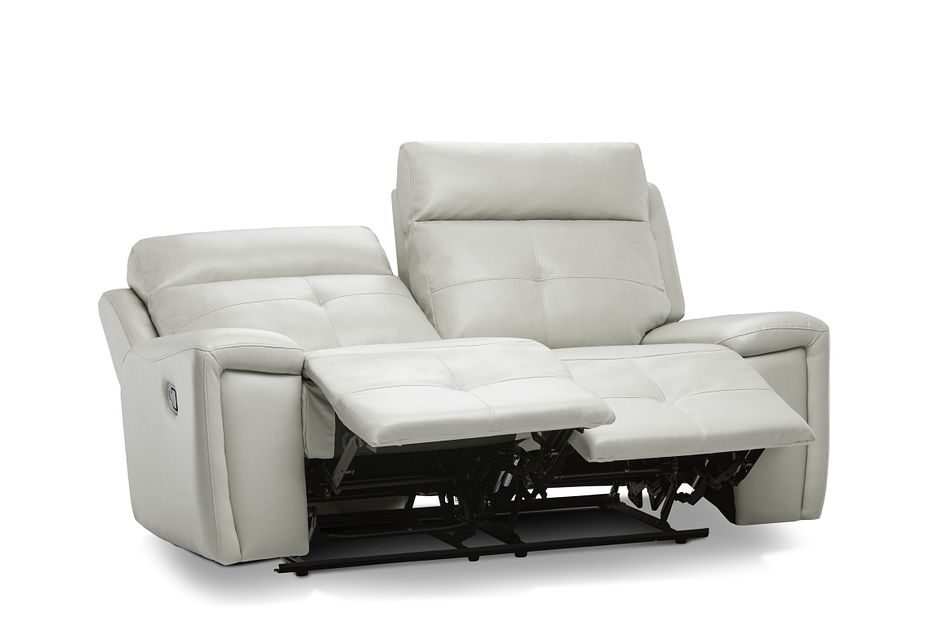 Chandler Light Gray Micro Reclining Loveseat