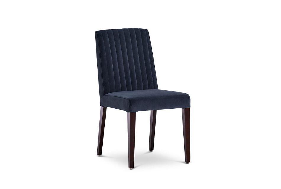Fraser Dark Gray Velvet Upholstered Side Chair