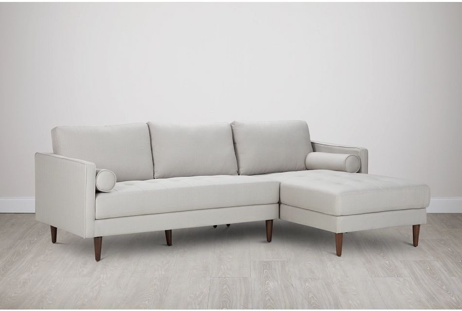 Rue Light Beige FABRIC Right Chaise Sectional,  (0)