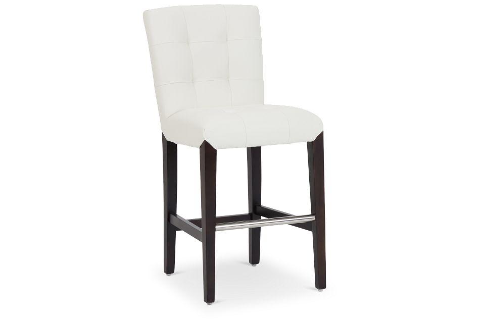 """Shelby Whitemicro 24"""" Upholstered Barstool,  (1)"""
