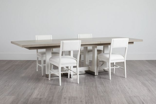 Marley Light Tone Rect Table & 4 Chairs (0)
