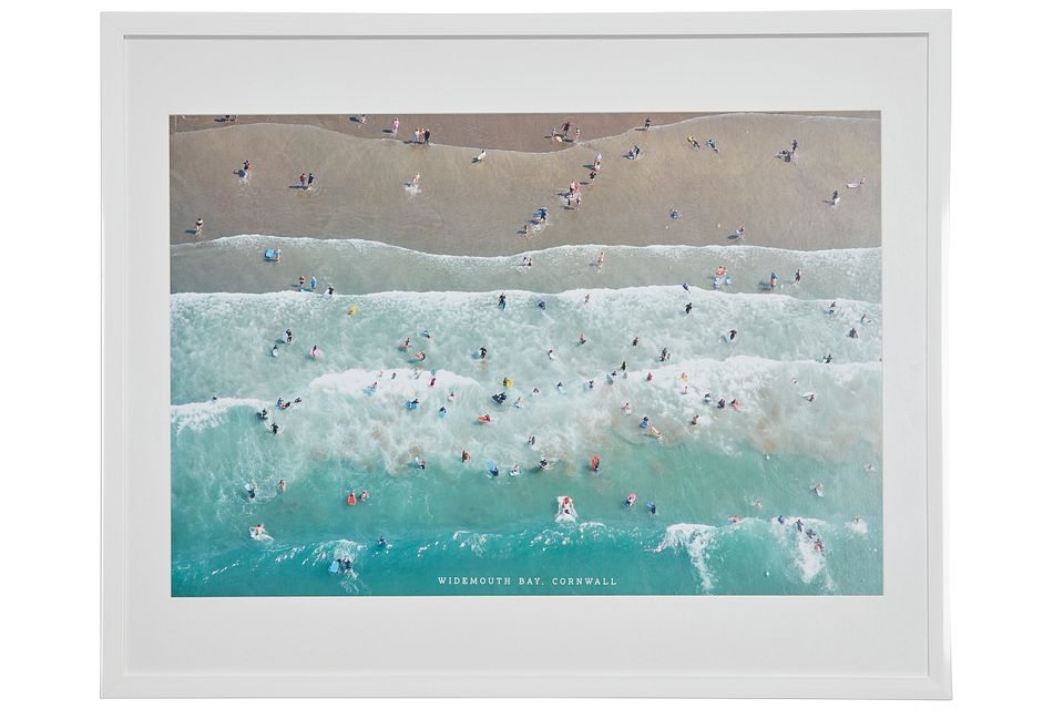 Tide Teal Framed Wall Art