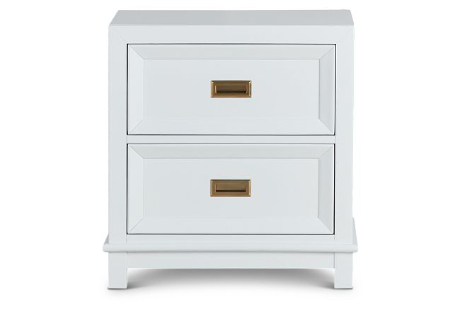 Ryder White 2-drawer Nightstand