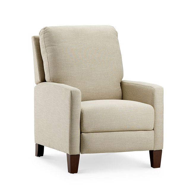 Griffin Beige Fabric Push Back Recliner (0)