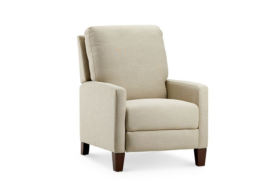 Griffin Beige Fabric Push Back Recliner