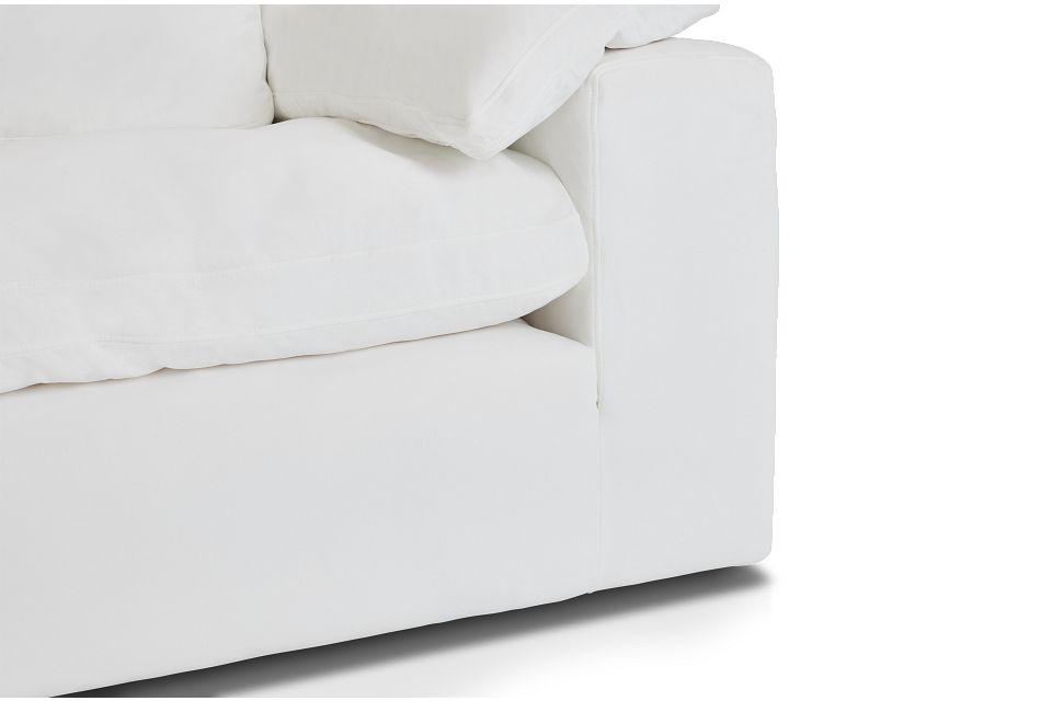 Nixon White Fabric Corner Chair