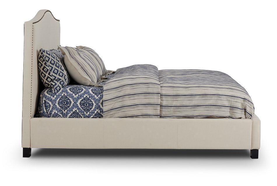 Dawson Beige Uph Platform Bed, King (2)