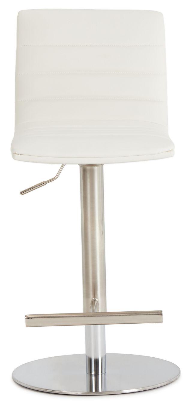 Ellis White Uph Adjustable Stool (3)