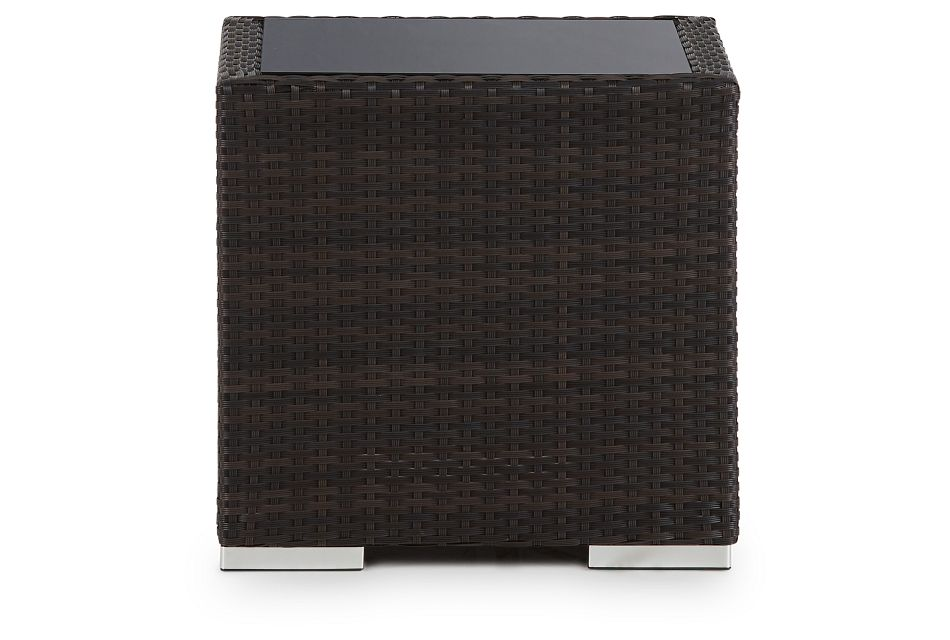Fina Dark Tone Square End Table