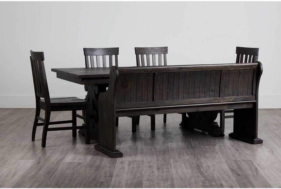 Sonoma Dark Tone Trestle Table, 4 Chairs & Bench,  (0)