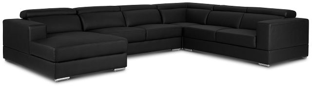 Maxwell Black Micro Large Left Chaise Sectional (1)