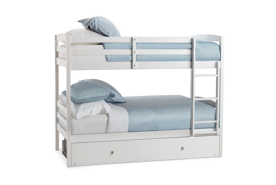 Marley White Trundle Bunk Bed