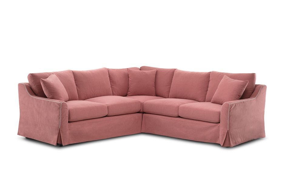 Madelyn Red Fabric Small Two-arm Sectional