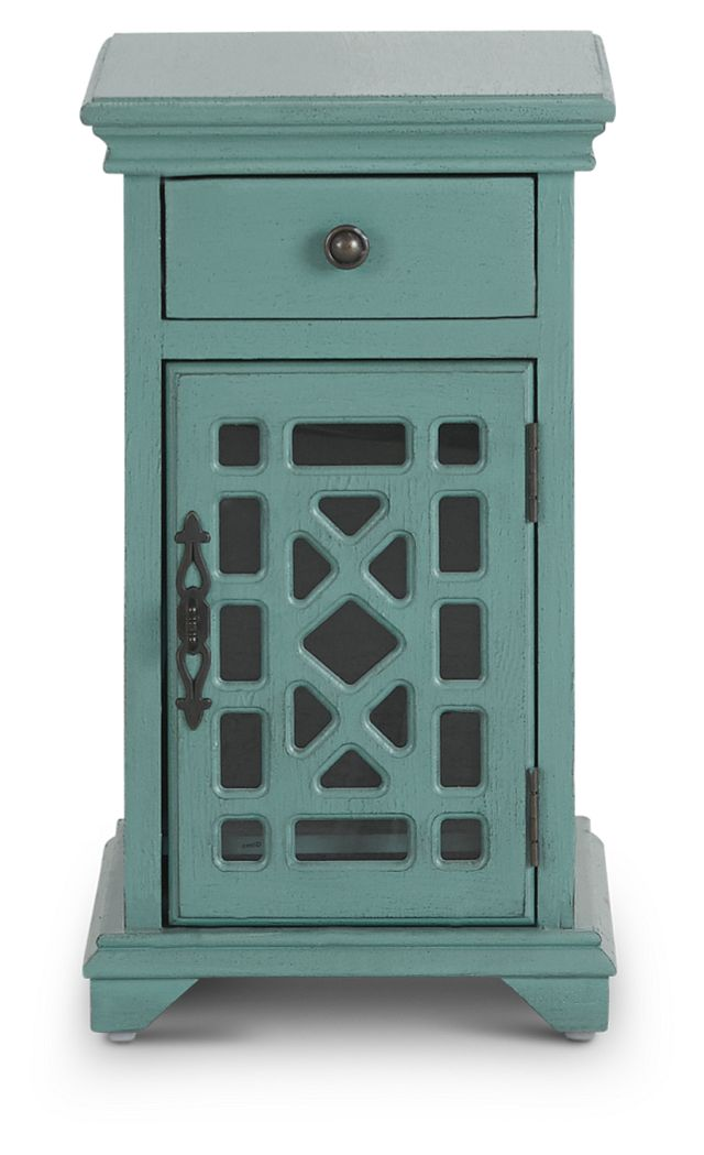 Alexis Teal Small Cabinet (1)