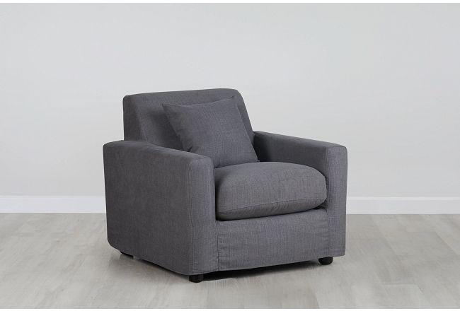 Bower Dark Gray Fabric Chair
