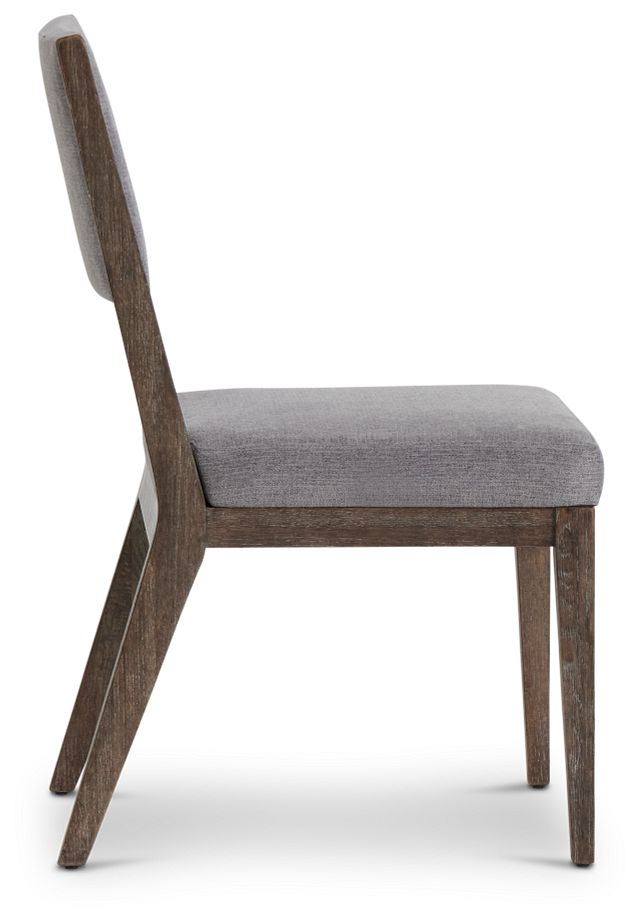 Linea Dark Tone Side Chair (2)