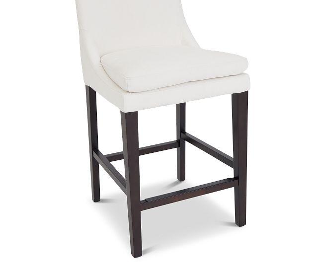 """Tito White 24"""" Upholstered Barstool"""