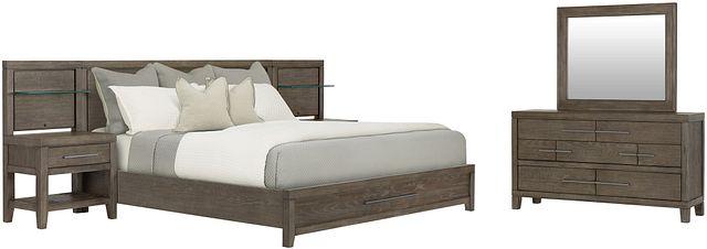 Bravo Dark Tone Wood Spread Storage Bedroom (1)