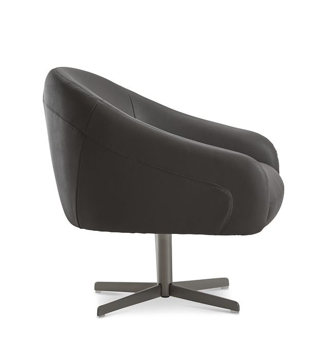 Frankie Dark Gray Swivel Accent Chair (2)