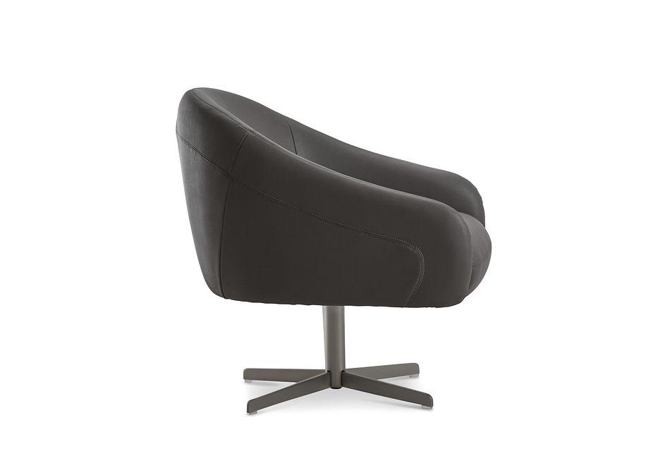 Frankie Dark Gray Swivel Accent Chair